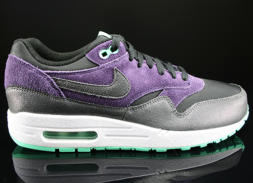 Nike WMNS Air Max 1 Essential Schwarz Anthrazit Lila Mint Weiß Sneakers 599820-001