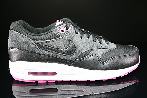 Nike WMNS Air Max 1 Essential Schwarz Anthrazit Weiss Violett Sneakers 599820-005