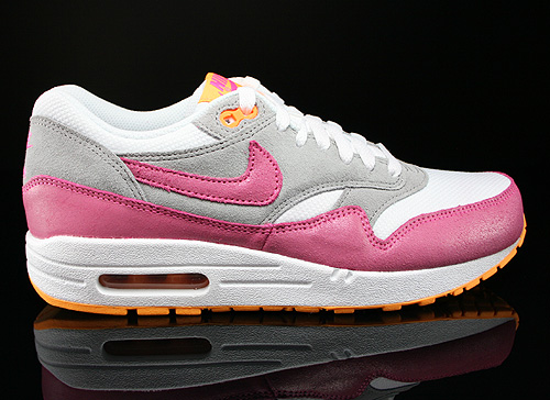 Nike WMNS Air Max 1 Essential Weiss Pink Grau Orange Sneaker 599820-107