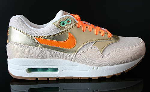 Nike WMNS Air Max 1 Premium Beige Gold Orange Weiss Sneakers 454746-202