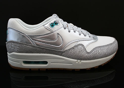 Nike WMNS Air Max 1 Premium Weiss Silber Grau Tuerkis Sneakers 454746-101
