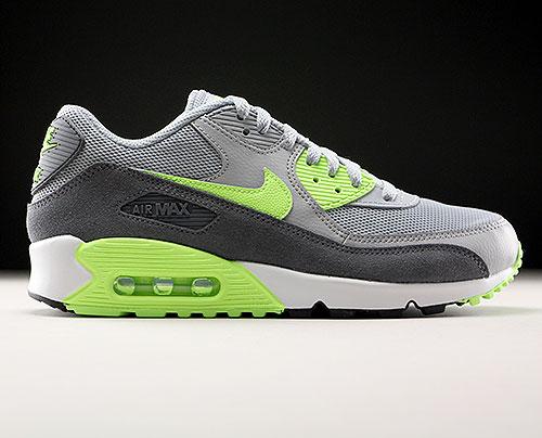 huge selection of 3c574 11ef9 Nike WMNS Air Max 90 Essential Grau Neongrün Dunkelgrau Weiss 616730-022