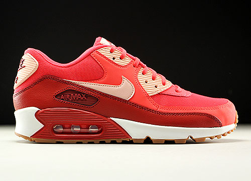 Nike WMNS Air Max 90 Essential Rot Orange Rose Weiss 616730-800