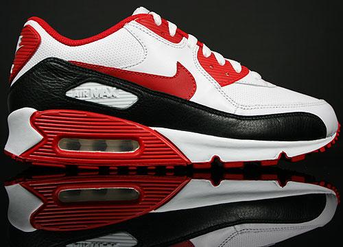 Nike WMNS Air Max 90 Premium LE Weiss Rot Schwarz Purchaze