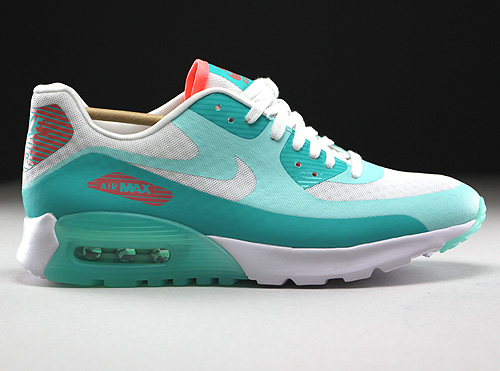 Nike WMNS Air Max 90 Ultra Breeze Weiss Tuerkis Orange Sneaker 725061-103