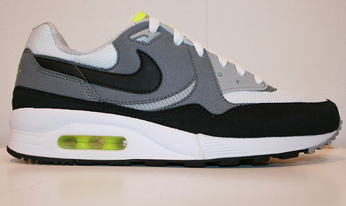 Nike WMNS Air Max Light LE Weiss/Schwarz-Grau-Hellgrau-Neongelb 354051-109