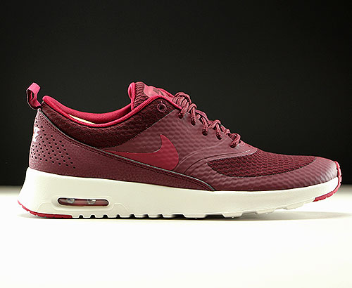 Nike WMNS Air Max Thea Textile Dunkelrot Rot Creme 819639-600