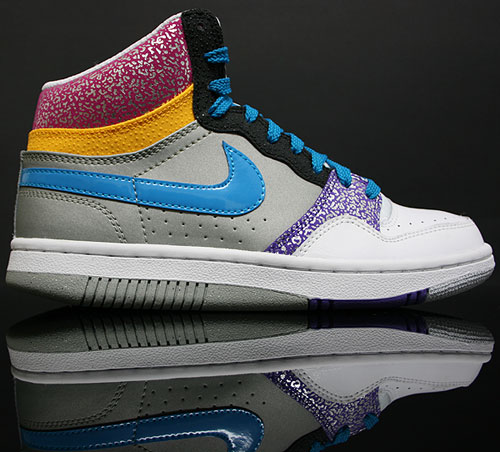 Nike WMNS Court Force High Weiss Grau Türkis Lila Pink Melone