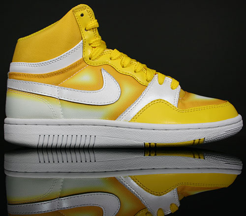 Nike WMNS Court Force High Gelb Weiss