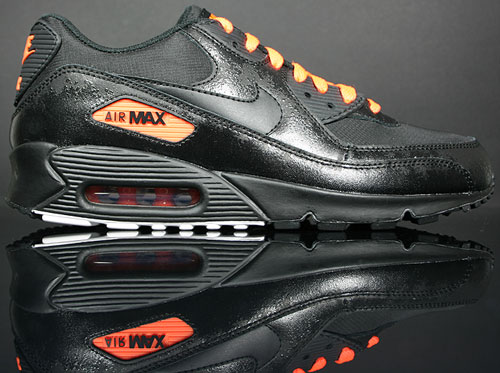 Nike Air Max 90 Premium Schwarz Orange