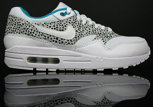 Nike WMNS Air Max 1 Weiss/Tuerkis-Schwarz