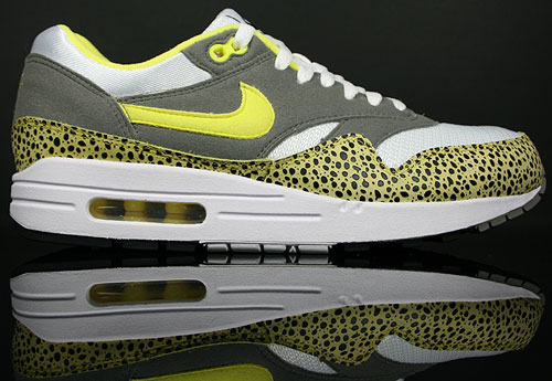 Nike Air Max 1 Weiss/Gelb-Schwarz-Grau