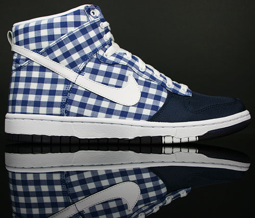 Nike Dunk Hi WMNS Skinny Dunkel Blau/Weiss