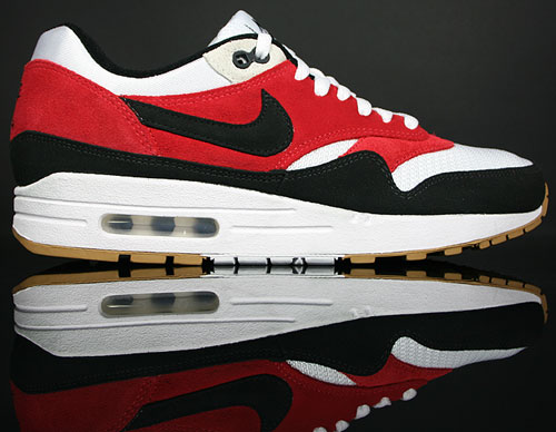 Nike Air Max 1 White/Black-Varsity Red