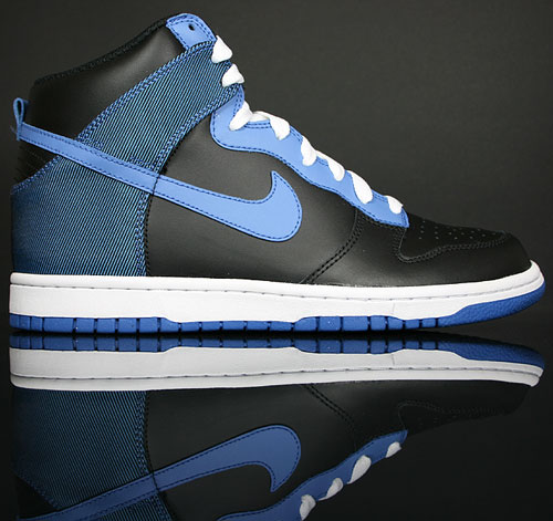 Nike Dunk Hi Black/Varsity Blue-Flint Grey