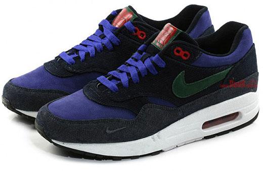Nike Air Max 1 Donkerblauw Leer