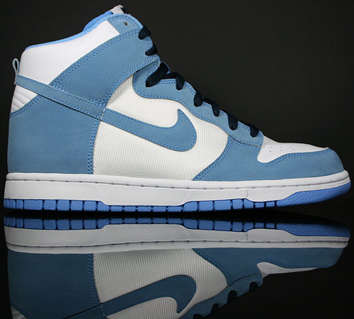 Nike Dunk Hi White/University Blue-Obsidian 317982-412
