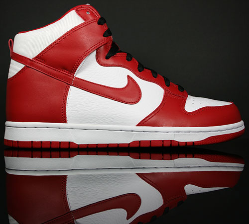 Nike Dunk Hi White/Varsity Red-Black 317982-162