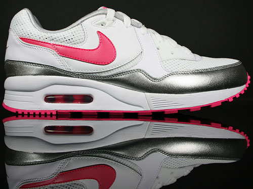 Nike WMNS Air Max Light White/Pink Flash-Metallic Silver 354051-161
