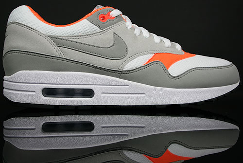 Nike Air Max 1 White/Medium Grey-Neutral Grey-Total Orange 308866-106