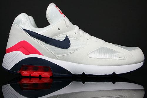 Nike Air 180 Metallic Summit/White-Midnight Navy-Solar Red 310155-105