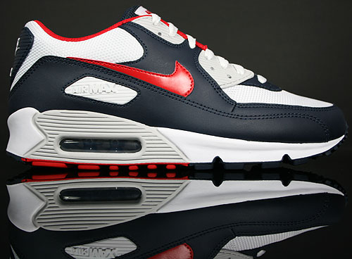 size 40 b2e0d fdcd1 Nike Air Max 90 Obsidian Sport Red-White-Neutral Grey 309299-400