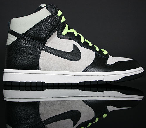Nike Dunk High Light Bone/Black-Light Liquid Lime 407920-010