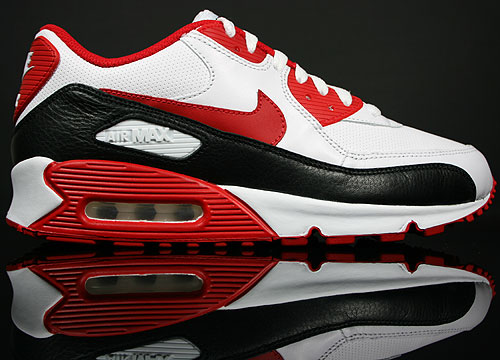 Nike WMNS Air Max 90 White/Sport Red-Black 375572-101