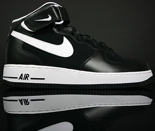 Nike Air Force 1 Mid Black/White 308866-005