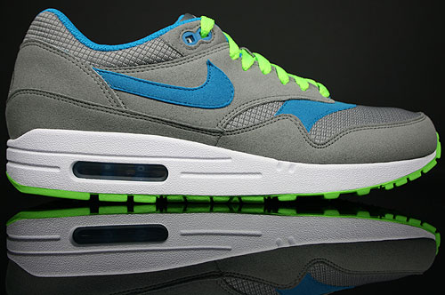 Nike Air Max 1 Light Charcoal/Blue Lacquer-Electric Green 308866-009