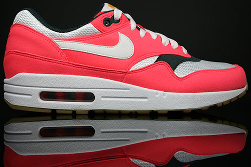 Nike WMNS Air Max 1 Solar Red/White-Seaweed-Gum-Light Brown 319986-600
