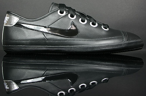 Nike WMNS Flash Macro Leather Black/Metallic Silver-Champagne 417798-002