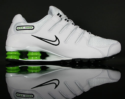 Nike Shox NZ White/Black-Green 378341-126