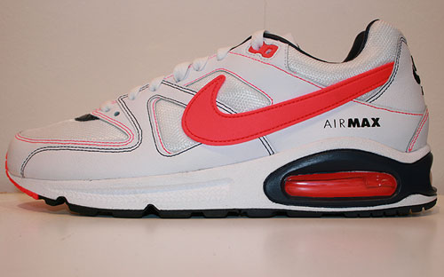 Nike Air Max Command White/Solar Red-Obsidian 397689-126