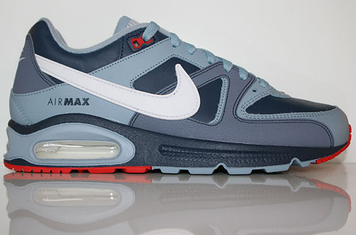 Nike Air Max Command Leather Dark Slate White Blue Grey Blue Dusk Sneaker 409998-400