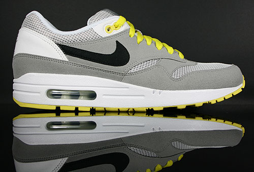 new product 921a8 c3e24 Nike WMNS Air Max 1 Medium Grey Black White Yellow 319986-019