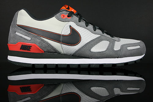 Nike Air Waffle Trainer Neutral Grey Anthracite Orange Red Sneaker 429628-090