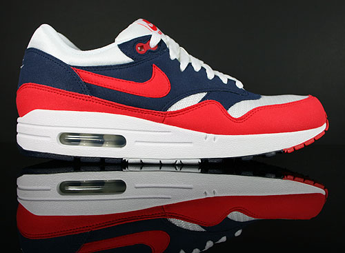 Nike Air Max 1 Midnight Navy Action Red White Neptune Blue Sneaker 308866-405