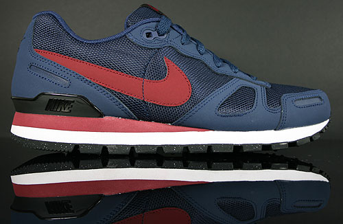 Nike Air Waffle Trainer Midnight Navy Team Red Black White Sneakers 429628-402