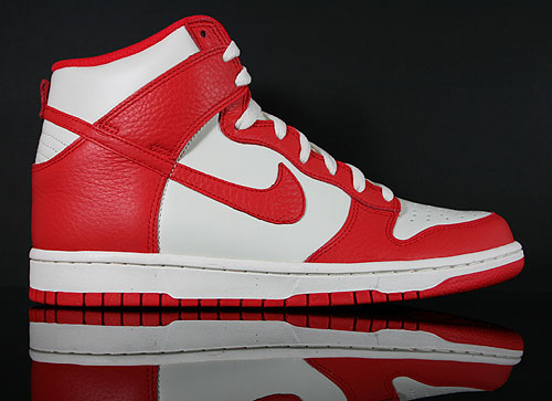 Nike Dunk High Sail Action Red Sail Sneakers 317982-122