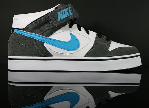 Nike Twilight Mid SE White Current Blue Dark Grey Sneakers 487951-140