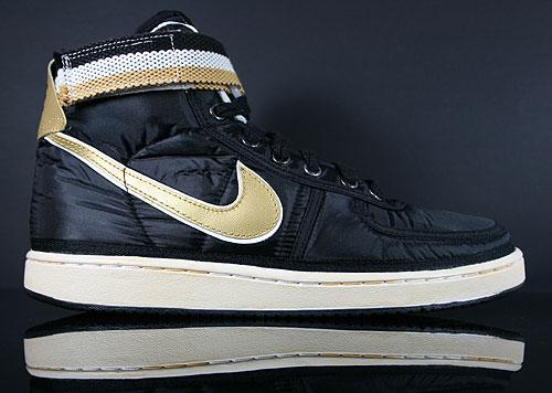 Nike Vandal High Supreme Black Metallic Gold White Sneakers 325317-071