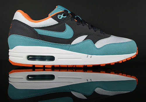 Nike WMNS Air Max 1 Gridiron Mineral Blue White Sneakers 319986-015