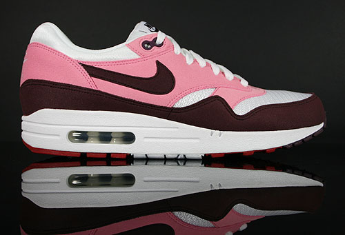 Nike WMNS Air Max 1 Pink Cooler Mahogany White Red Sneakers 319986-603