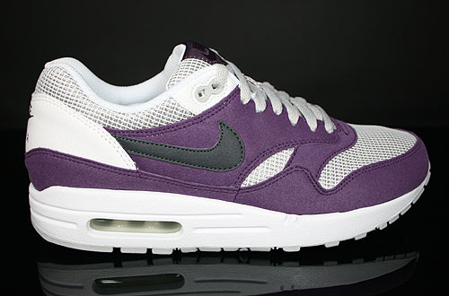 Nike WMNS Air Max 1 Wine Anthracite Neutral Grey White Sneakers 319986-602