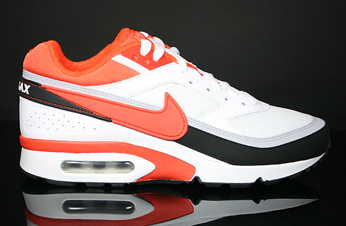 Nike Air Classic BW Textile White Orange Black Wolf Grey Sneakers 358797-118
