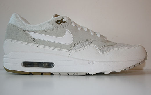 newest ed62d 77670 Nike Air Max 1 Light Bone Summit White Sneakers 308866-035