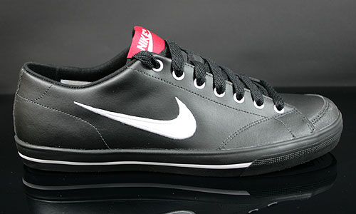 Nike Capri Black White Gym Red Sneakers 314951-066