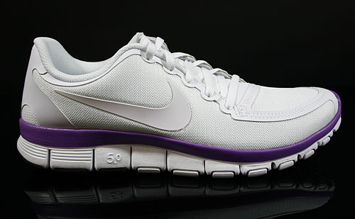 Nike WMNS Free 5.0 V4 White Violet Pop Sneakers 511281-105