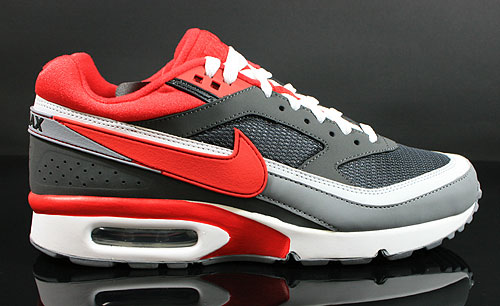 Nike Air Classic BW Textile Anthracite University Red Cool Grey White Sneakers 358797-065
